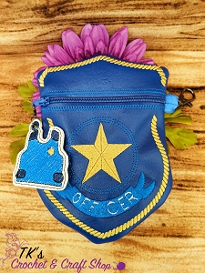 Police Badge Shaped Bag
