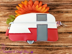 Retro Red and White Shaped Bag