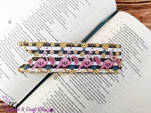 Flamingos and Pineapples Bookmark
