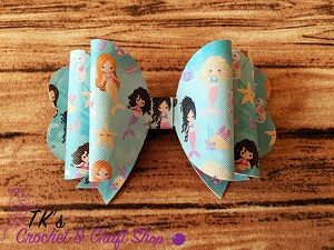 Mermaid Friends Double Bow