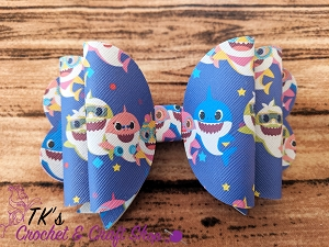 Baby Shark Family Double Bow