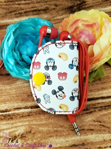 Mickey Mouse Icons Ear Bud Holder