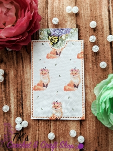 Flower Crown Full Foxes Card Holder