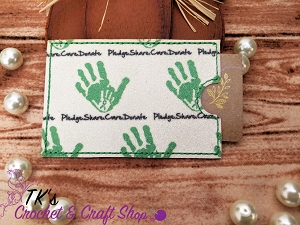 Pledge and Donate Card Holder