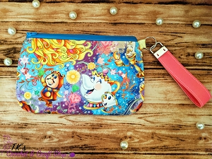 Beauty and the Beast Large Clutch Bag