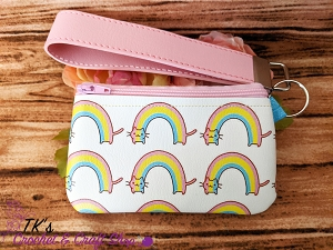 Rainbow Cat Small Vinyl Clutch Bag
