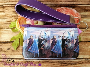 Frozen Characters Small Vinyl Clutch Bag