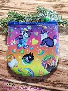 Lisa Frank Rainbow Scoop Coin Purse