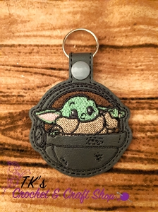 Adorable Baby Yoda Key Fob