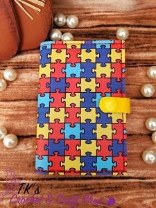 Autism Puzzle Pieces Mini Composition Holder