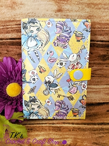 Yellow and Purple Checkered Alice in Wonderland Mini Composition Holder