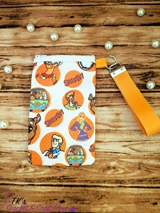 Orange Scooby Doo Medium Sunglasses Bag