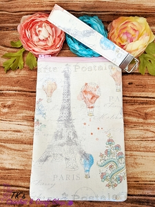 Hot Air Balloons and Eiffel Tower Large Sunglasses Bag