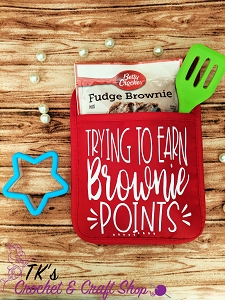 Trying to Earn Brownie Points Oven Mitt Gift Set