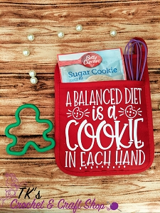 A Balanced Diet is a Cookie in Each Hand Oven Mitt Gift Set