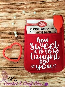 How Sweet It Is to be Taught By You Oven Mitt Gift Set