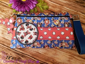 Mouse Upon a Time Minnie Large Retro Vinyl Clutch Bag