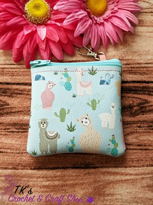 Llamas and Cacti Coin Purse